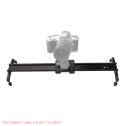 Andoer 60cm / 24 Aluminum Alloy Video Track Slider Dolly Stabilizer System for Canon Nikon Sony DSLR Cameras Camcorders