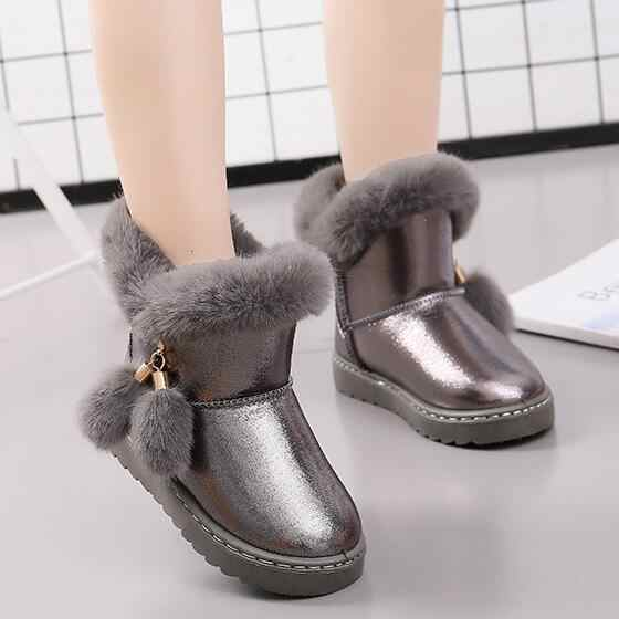 KKABBYII Children Winter Boots For Baby Girls Snow Buckle Boots Kids Shoes  Velvet 2018 Boy Shoes 59efa80a8da6