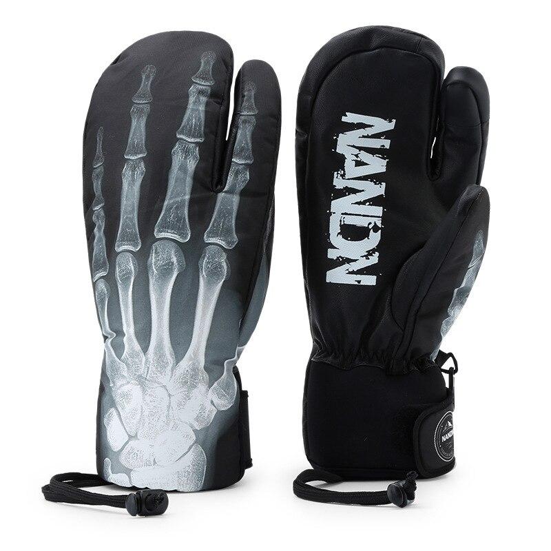 Hommes femmes Chidlren hiver thermique dames Snowboard Ski mitaines gants imperméable à l'eau chaude neige extérieure anti-dérapant gant