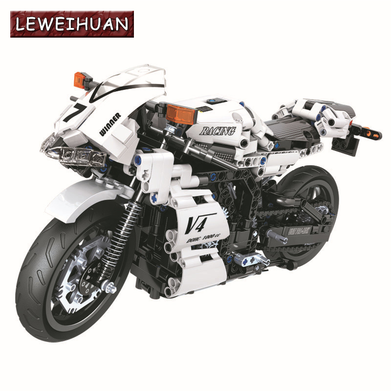 Technic Classic Racing Motorcycle Building Blocks Sets Bricks Model Kids Educational Toys Gifts Compatible With Legoings цена
