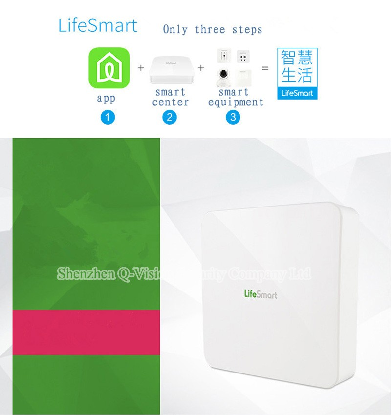 9--Lifesmart Smart Station Top Brand RF433MHz Wireless Smart Home Automation System WIFI Remote Control via VIA IOS Android Phone