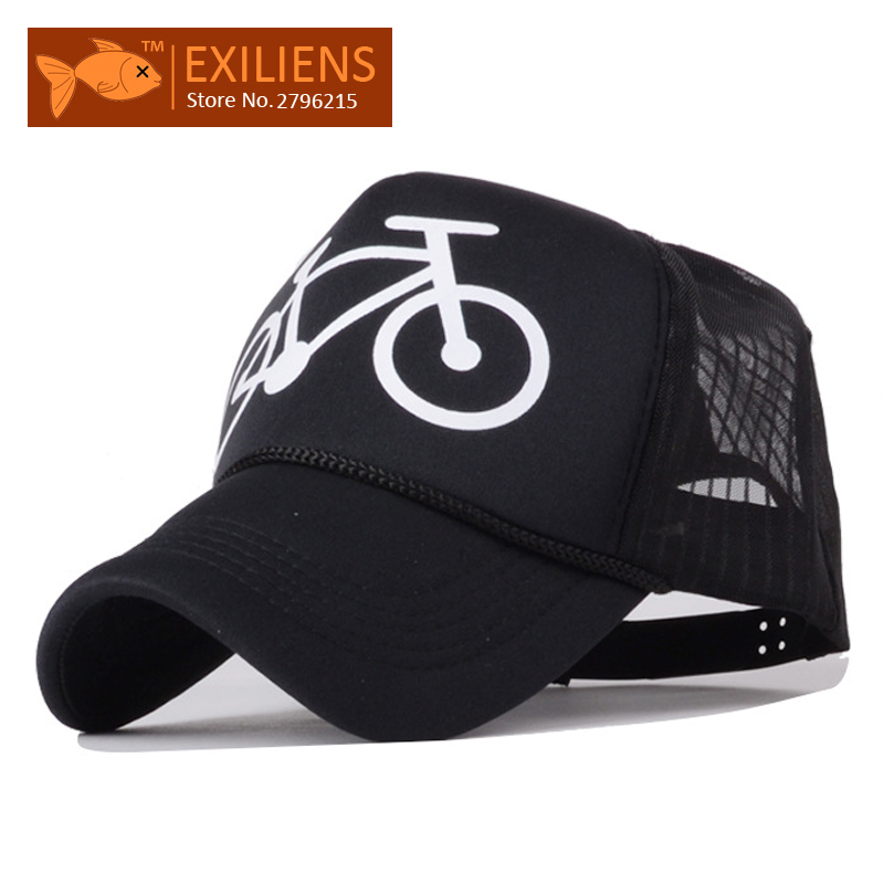 [EXILIENS] 2017 New Fashion Baseball Cap Brand Hot Cotton Mesh Solid Bike Snapback Caps Strapback Bboy Hip-hop Hat For Men Women [exiliens] 2017 fashion brand baseball cap 100% cotton board snapback caps strapback bboy hip hop hats for men women fitted hat