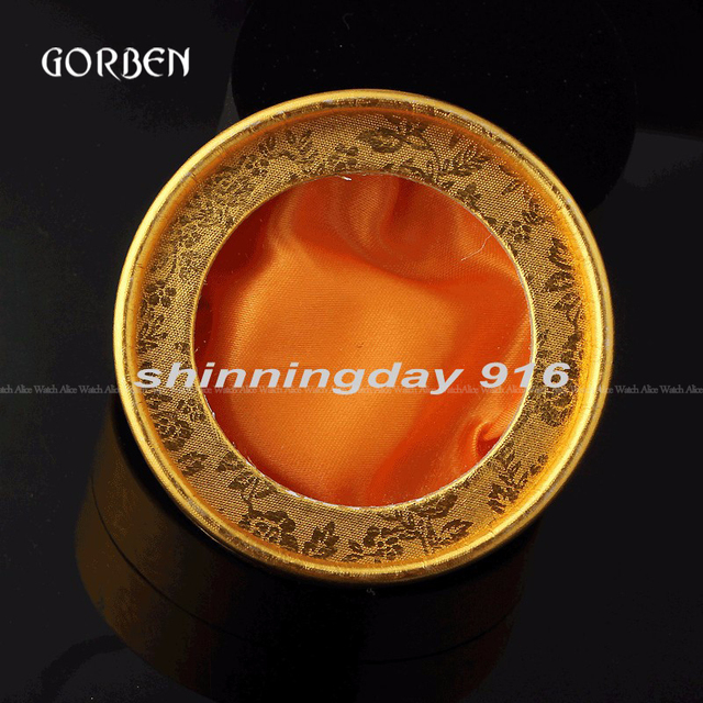 New Luxury Gold Pocket Watch Box Case Watch Gift Boxes