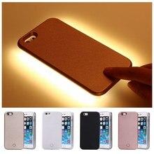 2016 New Fashion LED Selfie Case For iPhone 6 6s plus 5 5s SE LED Light Flash Luminous phone Case Self Cover