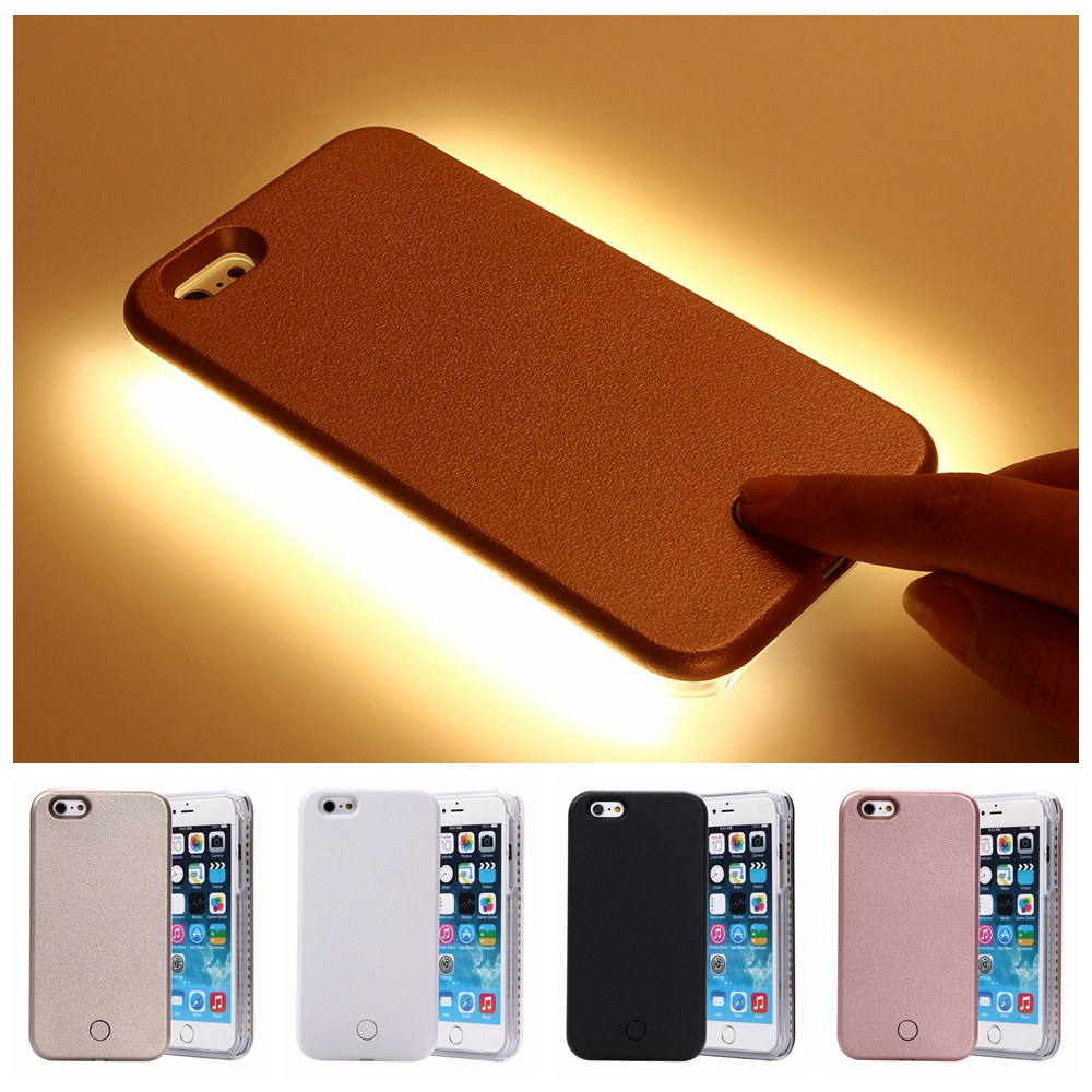 new product 182c4 28f9b US $18.99 |New Fashion LED Selfie Case For iPhone 6 6s plus 5 5s SE LED  Light Flash Luminous phone Case Self Cover for iPhone 7 7Plus on ...