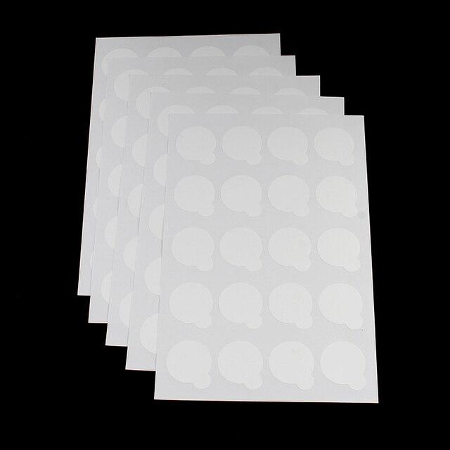 100 pces suporte de cola de cílios descartáveis pálete extensão de cílios cola almofadas adesivo 2.5cm suporte em cílios jade pedra maquiagem