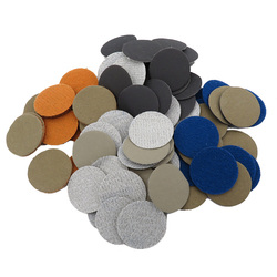 50PCS 1 Inch 25MM Waterproof Sandpaper Hook and Loop Silicon Carbide 60 to 10000 Grits for Wet or Dry Sanding
