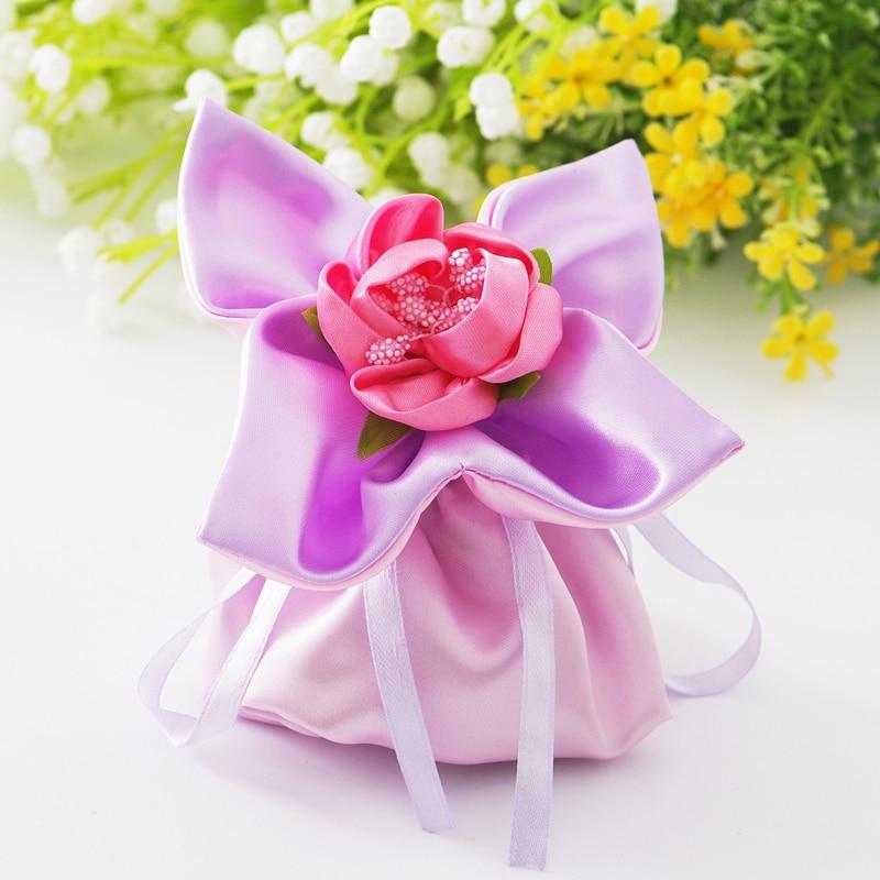 유럽의 성격 크리 에이 티브 웨딩 파티 브로케이드 네 잎 찬성 가방 선물 가방 사탕 가방 보석 패키지 가방