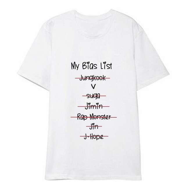 MY BIAS LIST T-SHIRT (7  VARIAN)