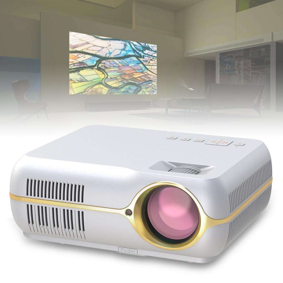 4200 Lumens 1080P Video Home Cinema LED HD Video Projector with Stereo Surround Double Horns Support