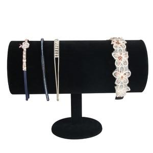 Image 5 - Velvet Jewelry Hair Hoop Head Band Display Stand Organizer Showcase Holder jewelry stand jewelry organizer jewelry holder