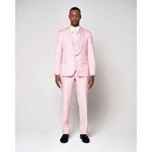 2017 Latest Coat Pant Designs llight Pink Men Suit Groom Tuxedo Slim Fit 2 Pieces Wedding mens Suits Prom Blazer Terno Masculino