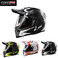 Nueva ls2 de la motocicleta casco con doble lente capacete motocross off road helmet cascos párr moto casco de carreras casco mx436