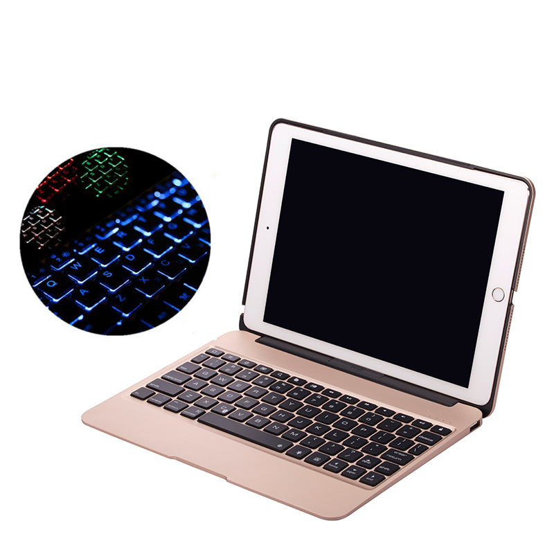 High Quality Aluminum Case for iPad Pro 9.7 / Air 2 Wireless Bluetooth Keyboard Case for iPad Air 2 Tablet Flip Cover Stand for ipad pro 10 5 shockproof magnet 2 in1 bluetooth 3 0 wireless keyboard foldable flip case stand cover holder for ipad 2 3 4
