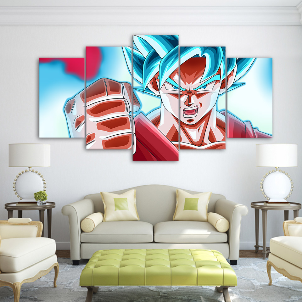 ArtSailing HD print 5 piece canvas art dragon ball Goku home decoration modern canvas pictures for living room Poster UP-2165C