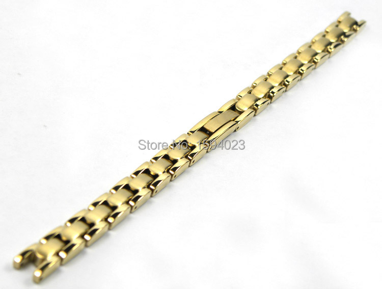 ФОТО T003209A Watchband Watch Parts Female strip Solid Stainless steel bracelet strap