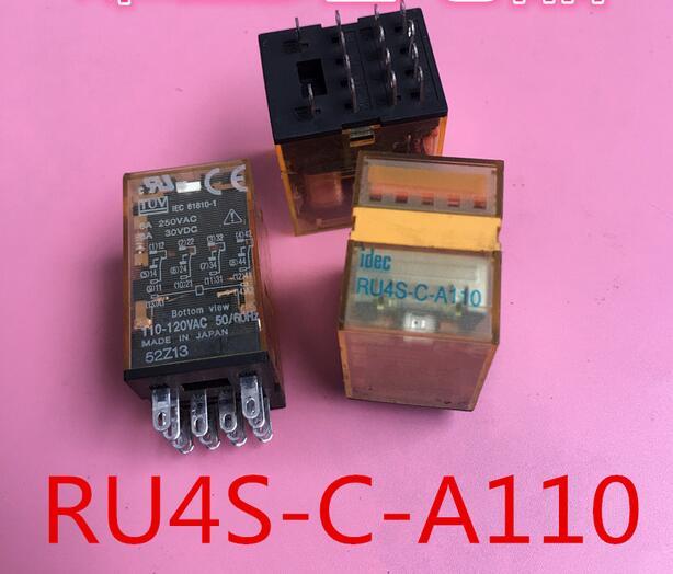 цена на HOT NEW relay RU4S-C-A110 AC110V RU4S-C-AC110V 110VAC RU4SCA110 AC110V 110VAC DIP14