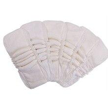 [Sigزاغور] 5 الخيزران القطن إدراج قابل للغسل قابلة لإعادة الاستخدام حفاضات الطفل القماش الحفاض مقاوم للماء PUL لا ستوكات 5 طبقات