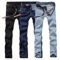 2016 Novos homens da Moda Casual Estiramento Magros Calças Jeans Apertadas Calças de Cores Sólidas Calças Jeans de Forma Magro das calças de Brim dos homens calças