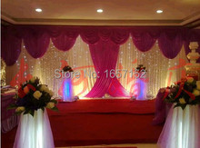 Deluxe Stage Backdrop with Detachable Swag Top-rated 10ft*20ft Party wedding Backdrop stage decoration
