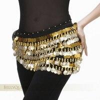 2015 The New 288 Coins Waist Chain Original 5 Layer Gong Piece Belly Dance Waist Chain