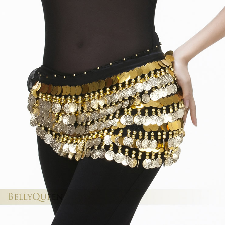 2018 The new 288 coins waist chain original 5 layer gong piece belly dance waist chain belly dance waist chain belt filigree polished bowknot flat belly chain