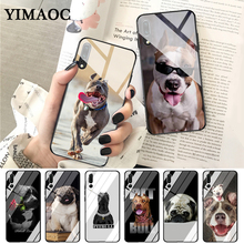 YIMAOC Pit Bull Lovely Pet Dog Pitbull Glass Case for Huawei P10 lite P20 Pro P30 P Smart honor 7A 8X 9 10 Y6 Mate 20