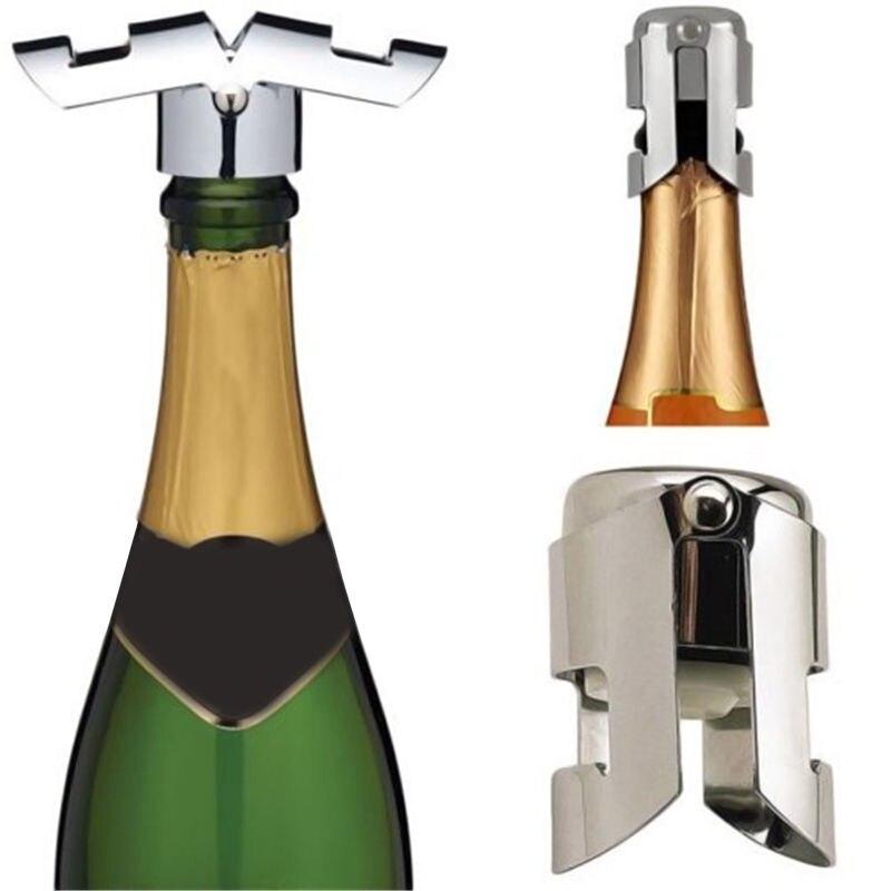 1 St Draagbare Roestvrij Vergrendelingen Champagne Fonkelende Wijnfles Stopper Sealer Bar Wijn Plug Liquor Geest Flow Wijnfles Cap Punctual Timing