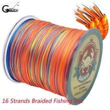 Braided Fishing Line  300M 16 Strands Multicolor Super Power Japan Multifilament PE Braid
