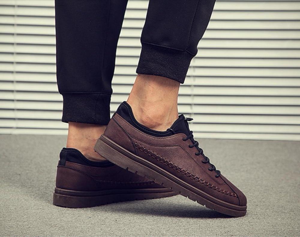 Black brown L'entreprise Automne La À Des Casual Hommes Mode De Chaussures Augmentent khaki Pour Loisirs Petites Société Correspondre CqwZxan4w