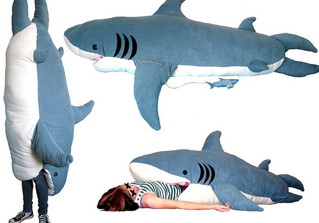 Shark Sleeping Bag Soft Cushion Mattress Novelty Home Decoration Item Large