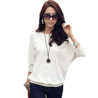 Blusas Camisas Femininas 2016 Bat Sleeve Shirt Women Blouses Vintage Plus Size Clothing Korean Tops Ropa