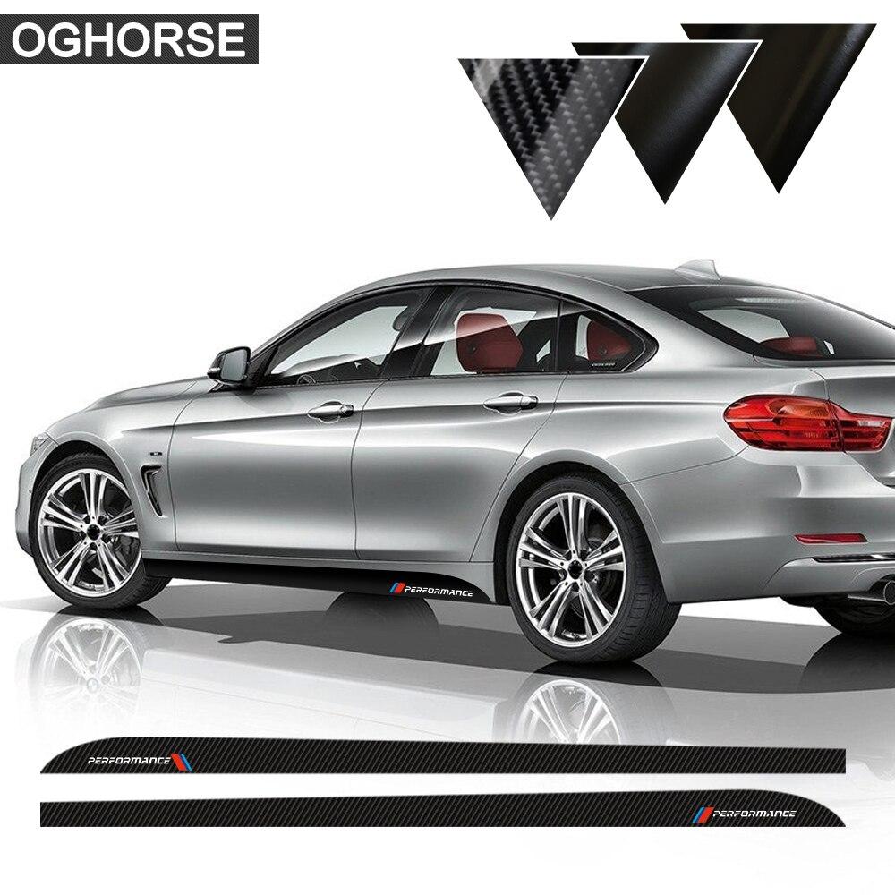Car Styling Newest M Performance Side Stripe Skirt Sill Sticker Decal for BMW f30 f31 x5 f15 f85 e60 e61 f22 e90 f10 f11 f01 f02 maserati granturismo carbon spoiler