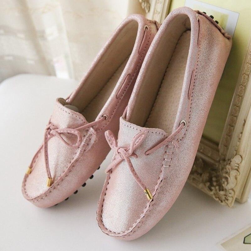 100% Echtem Leder Frauen Wohnungen Handgemachte Frauen Beiläufige Lederne Schuhe Leder Mokassin Mode Frauen Fahren Schuhe