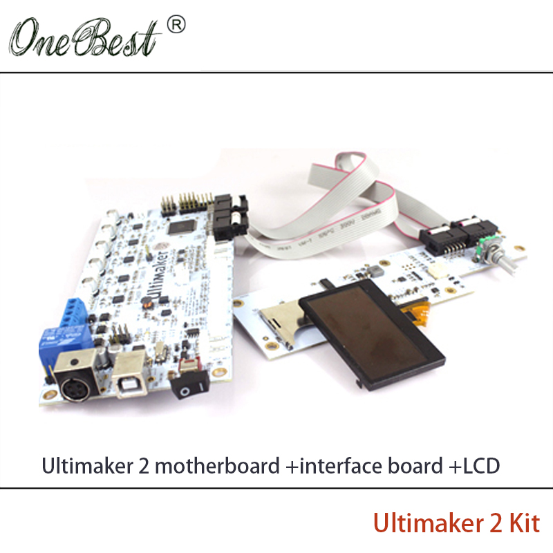 3D Printer Parts Ultimaker V2 1 4 Controlboard Ultimaker 2 Generations Board Interface Board With LCD