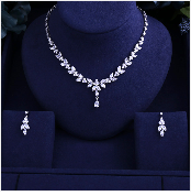 HTB1opVzgeuSBuNjy1Xcq6AYjFXa9 JaneKelly Gold-Color Luxury Sparking Brilliant Cubic Zircon Drop Earring Necklace Jewelry Sst Wedding Bridal jewelry sets
