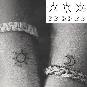 Waterproof Temporary Tattoo Sticker small cross sun and moon on finger ear tatto flash tatoo fake tattoos for girl women men