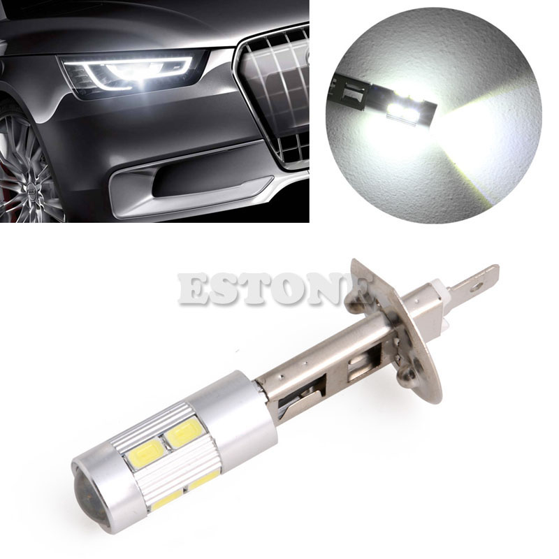 1Pc 5630 SMD 10 LED H1 Voiture Lampe  Brouillard Ampoule Phare DC 12V Drop Shipping