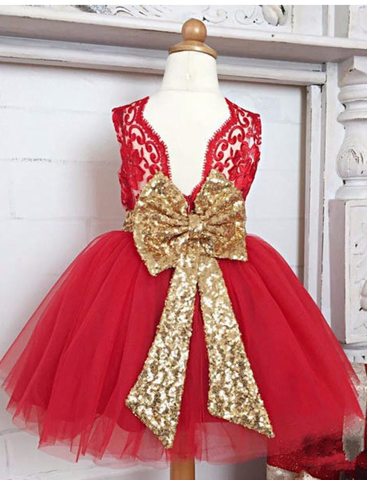 LZH Summer Baby Girls Dress Kids Sequins Bowknot Wedding Party Dresses Christmas Costume Girls Princess Dress For Girls Clothes 28
