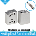 Acessórios Da Impressora 3D bico garganta bloco de apoio de aquecimento integrado V6 kit bloco de alumínio especial