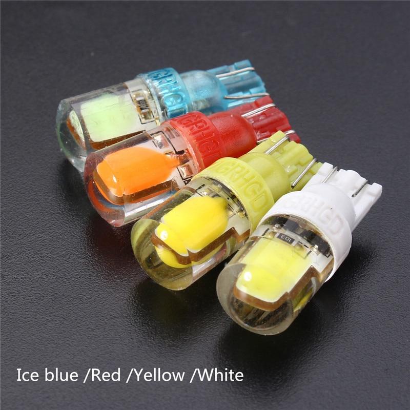 2pcs T10 194 W5W 12V Car Lights 1.2W Super Bright COB LED Auto Car Silica Clearance Light License Plate Light Bulb 120LM