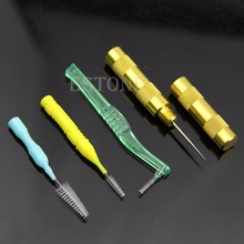 Airbrush Spray Gun Nozzle Cleaning Repair Tool Kit Needle&Brush Set
