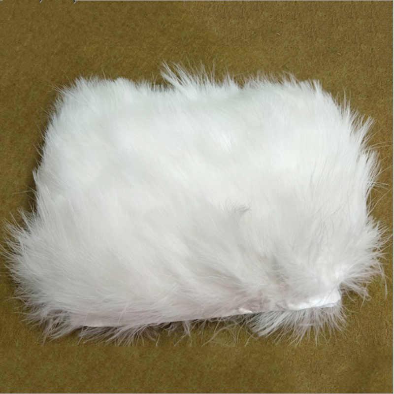 1 metros/lote plumas de pavo Borde de tela diy accesorios de ropa pluma de faisán 6-10 cm decoración de boda cinta de plumas de pollo