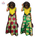 African Clothes Bazin Riche Dresses Women Half Sleeve Maxi Dress for Women Dashiki African Wax Print Fashions Clothes 6XL WY1084