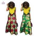Ropa africana bazin riche vestidos mujeres media manga maxi dress for women dashiki africano impresión de la cera modas de ropa 6xl wy1084