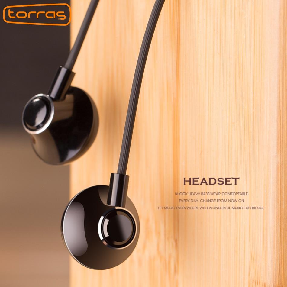 Torras Earphone Bass Running Sport For iPhone 6 In-ear Earphone 3.5mm Volume Control Headset Earphones with Micphone For Samsung