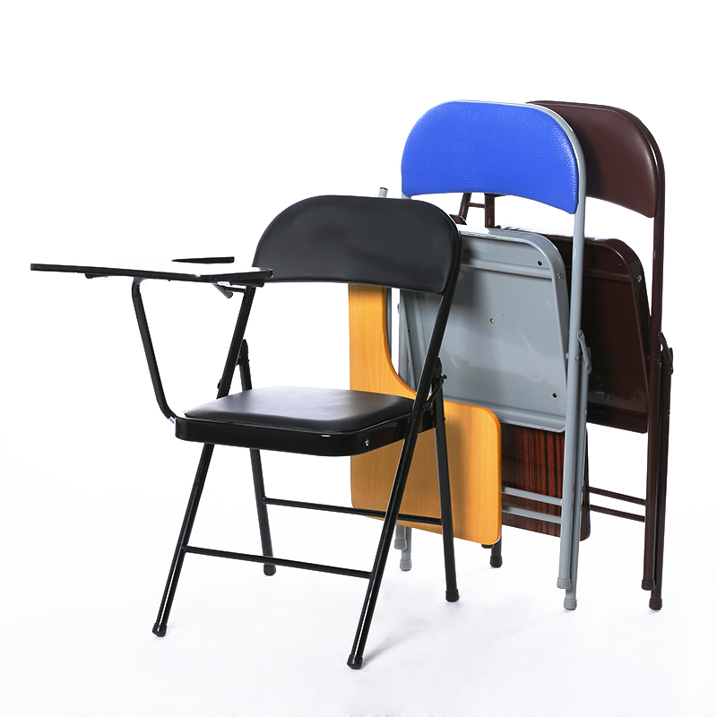 High Quality Folding Office Chair Portable Office Meeting Conference Chair With Writing Board Stable Household Computer Chair