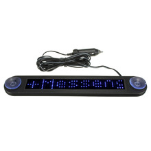 12V LED Car Programmable Message Sign Moving Scrolling Display Board W/ remote Blue