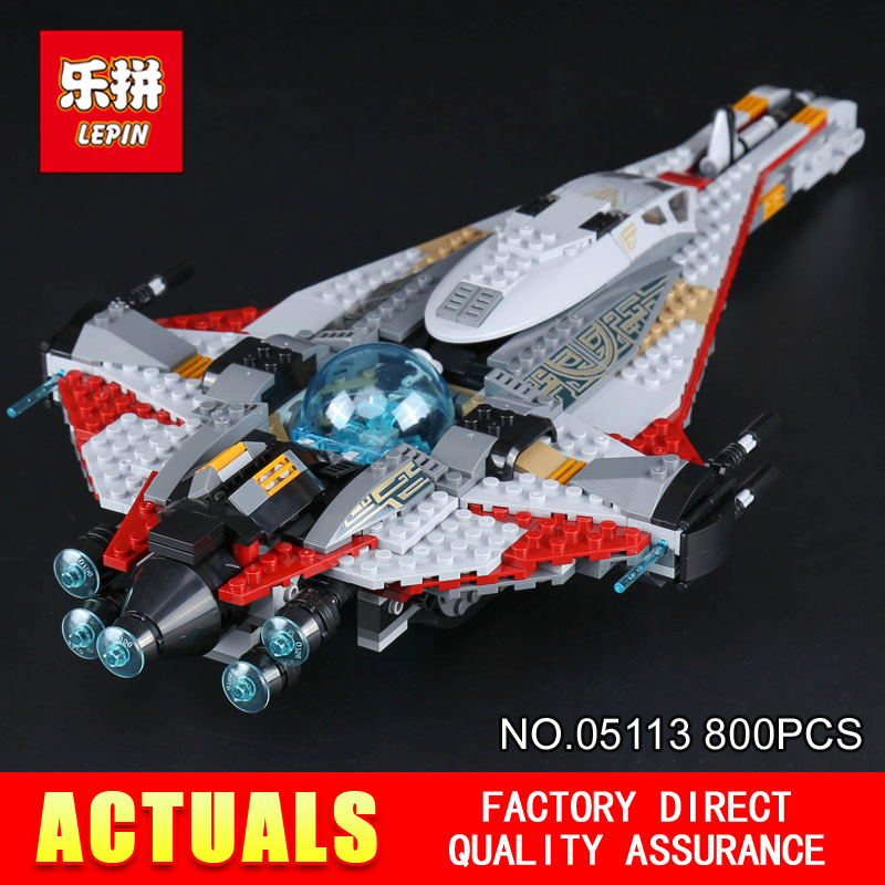 Lepin 05113 800Pcs Star Genuine Stunning Wars The Arrowhead Set Children Educational Building Blocks Bricks Toy Model Gift 75186 t3184b educational toy coin slide chip game toy playing toy set