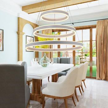 Современные светодиодные подвесные светильники luminaria, 3 круга, кольца для гостиной, столовой, светодиодный светильник, лофт, люки, Led, декорат...